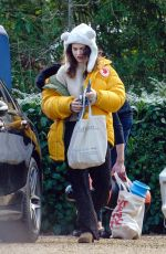 Lily James Out and about in Suffolk
