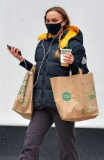 Lily-Rose Depp Grocery shopping at Whole Foods in NY