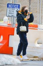 Lily-Rose Depp In Winter outfit out in New York