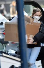 Lily Rose Depp Out lugging boxes in New York
