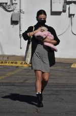 Lucy Hale Adopts a new puppy in Studio City
