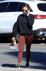 Lucy Hale Makes a morning coffee run in Los Angeles
