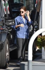 Lucy Hale Seen at the gas station in Studio City