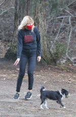 Malin Akerman Playing with her dogs at a park in Los Feliz
