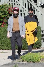 Mandy Moore Leaving an acupuncture clinic with her husband Taylor Goldsmith in Los Feliz