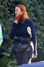 Marcia Cross On a walk in Brentwood