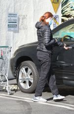 Marcia Cross Out for grocery shopping in Los Angeles
