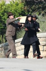 Margot Robbie Doing her own stunt on the set David O. Russell´s new film in Los Angeles
