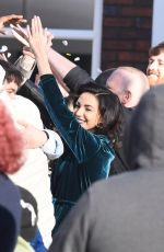 Michelle Keegan Filming Brassic in Manchester