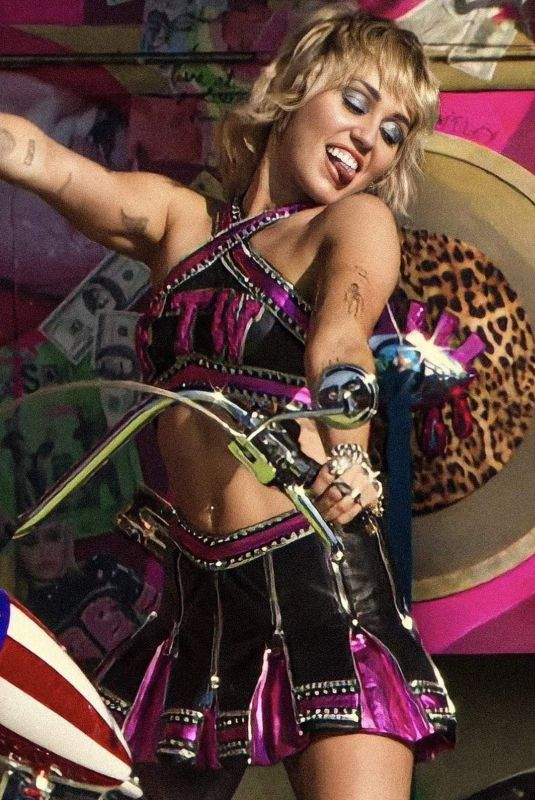 Miley Cyrus At Super Bowl Pre-Game Show