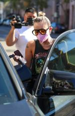 Miley Cyrus Runs errands with her dog in Beverly Hills