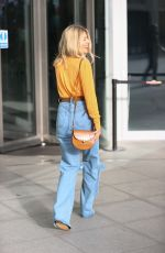 Mollie King Arrives at the BBC radio 1 studios in London
