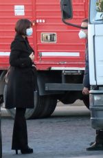 Monica Bellucci On the set of her new film in Rome