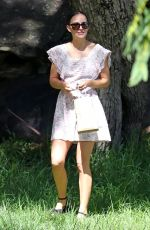 Natalie Portman And her husband Benjamin Millepied are seen celebrating at their daughter Amalia