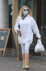 Nicollette Sheridan Grabs breakfast to go at Le Pain Quotidien in Calabasas