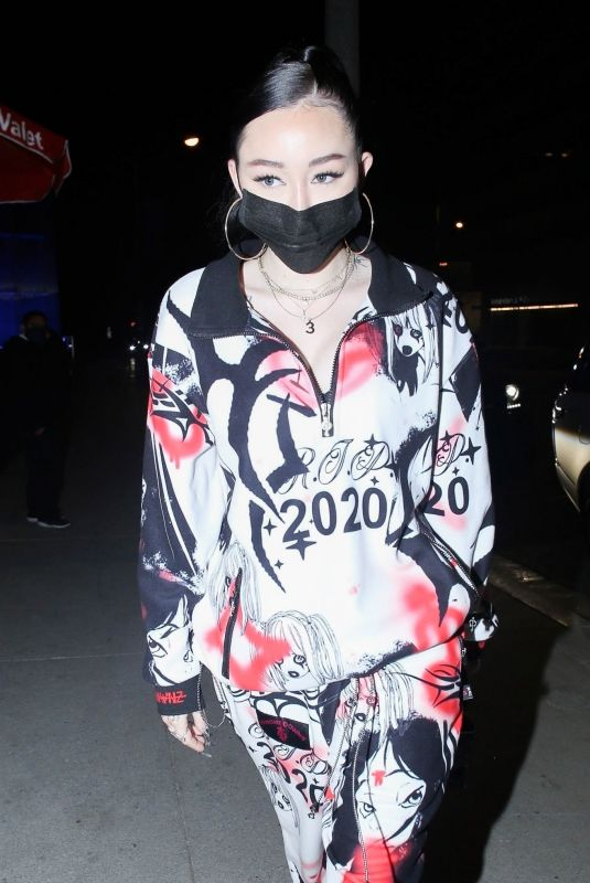 Noah Cyrus Out for dinner at BOA Steakhouse in West Hollywood