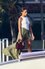 Olivia Culpo Enjoys a boat party on a sunny afternoon in Miami Beach