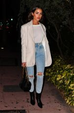 Olivia Culpo Wears a blazer and jeans for dinner at Swan restaurant in Miami