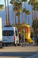 Olivia Wilde On the set of her directorial feature Don´t Worry Darling in Palm Springs