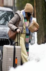 Phoebe Dynevor Heading to JFK airport to catches a flight back to London from New York