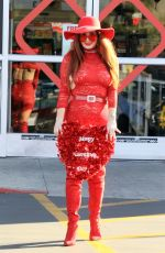 Phoebe Price Seen all red picking up some box of chocolates and Valentine
