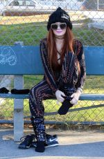 Phoebe Price Seen at a tennis court in Los Angeles