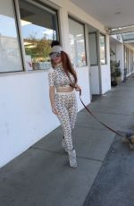 Phoebe Price Seen walking her dog in Beverly Hills