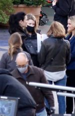 Reese Witherspoon and Julianna Margulies together on the set of the Morning Show in Los Angeles
