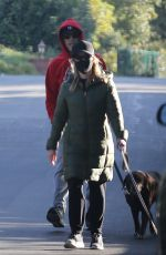Reese Witherspoon Enjoys a walk with her husband Jim Toth on Superbowl Sunday in Brentwood