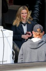 Reese Witherspoon On the set of The Morning Show in Los Angeles