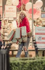 Tori Spelling Out for shopping at The Paper Source in Calabasas