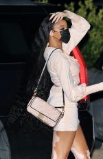 Winnie Harlow Out for dinner at Nobu in Malibu