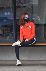 Zoey Deutch Grabs a green juice at Alfred Coffee in Los Angeles