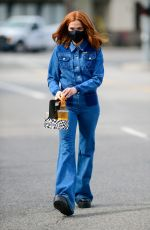 Zoey Deutch In Denim outfit out in Los Angeles