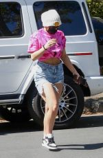 Addison Rae Shows off her slim waist & abs as she arrives at a friend