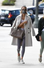 Alessandra Ambrosio Arrives at her usual pilates workout in Los Angeles