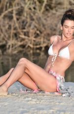 Alessandra Ambrosio Poses for a photo wearing a tiny two piece bikini in Florianopolis, Brazil