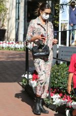 Alessandra Ambrosio Shopping with her kids in Pacific Palisades