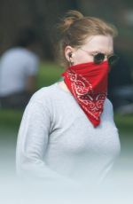 Amy Adams Masks up with a bandana for hike at Griffith Park in Los Angeles