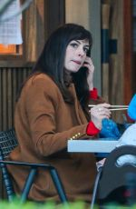 Anne Hathaway Goes out for dinner with her husband at a sushi place in Los Angeles