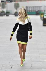 Ashley Roberts Wears an outfit by Karen Millen pictured leaving the Heart Radio Studios in London