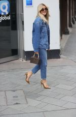 Ashley Roberts Wears River Island double denim outfit at Heart radio in London