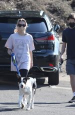 Ava Phillippe Out for a hike with her dog in Brentwood