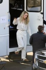 Brie Larson On a film set in Los Angeles