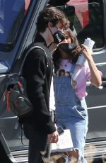 Camila Cabello & Shawn Mendes Head into a private house ahead of a video shoot in Los Angeles