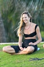 Candice Swanepoel At a park in Miami