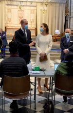 Catherine Duchess of Cambridge Visits coronavirus disease (COVID-19) vaccination centre at Westminster Abbey in London