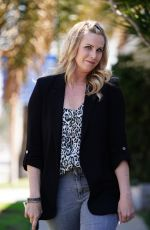 Catherine Sutherland (Pink Power Ranger) arrives for a meeting at JAM Studios in Los Angeles