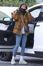 Chantel Jeffries In Gray tights out in Los Angeles