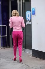 Charlotte Hawkins Seen at Global Radio studios in London
